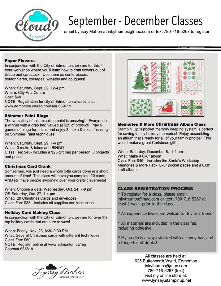 2018 sept dec class schedule-001